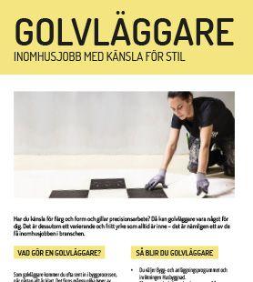 Yrkesblad - Golvlägggare