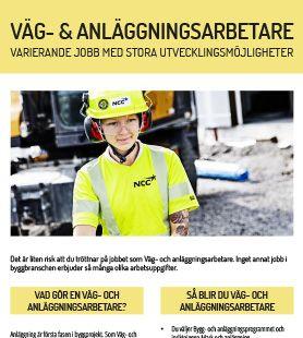 Yrkesblad - Väg- och anläggningsarbetare