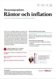 Ekonomiprojektet Räntor och Inflation