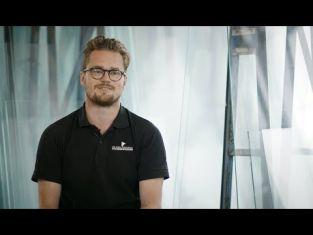 Mattias är glastekniker