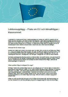 Lektionsupplägg till EU i klassrummet