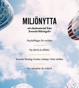 Miljönytta - ett skolmaterial från Svenskt Näringsliv