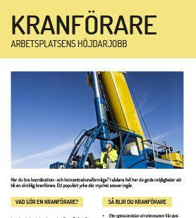 Yrkesblad - Kranförare