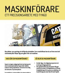 Yrkesblad - Maskinförare