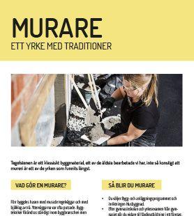 Yrkesblad - Murare