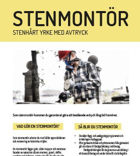 Yrkesblad - Stenmontör