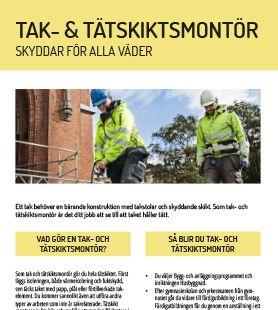 Yrkesblad - Tak- och tätskiktsmontör