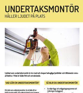 Yrkesblad - Undertaksmontör