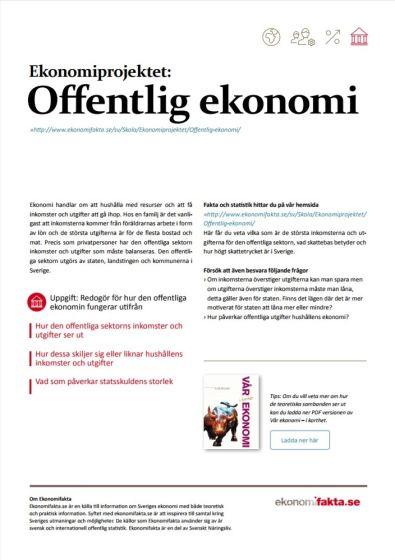 Ekonomiprojektet Offentlig ekonomi