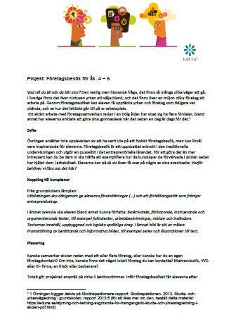 Projekt: Företagsbesök för åk. 4-6